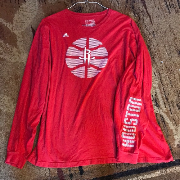 da88166ab adidas Shirts | Mens Houston Rockets Long Sleeve | Poshmark